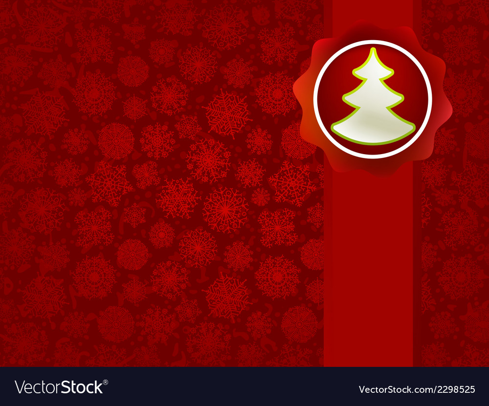 Christmas applique with tree background  eps8 vector | Price: 1 Credit (USD $1)