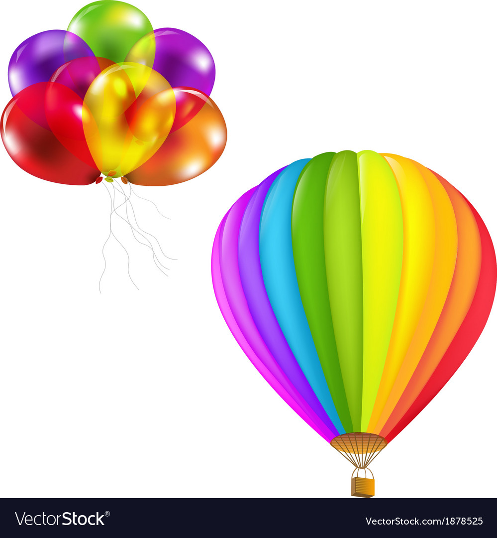 Color balloons set vector | Price: 1 Credit (USD $1)
