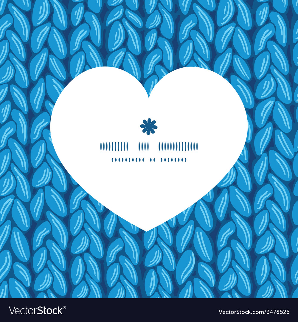 Knit sewater fabric horizontal texture heart vector | Price: 1 Credit (USD $1)
