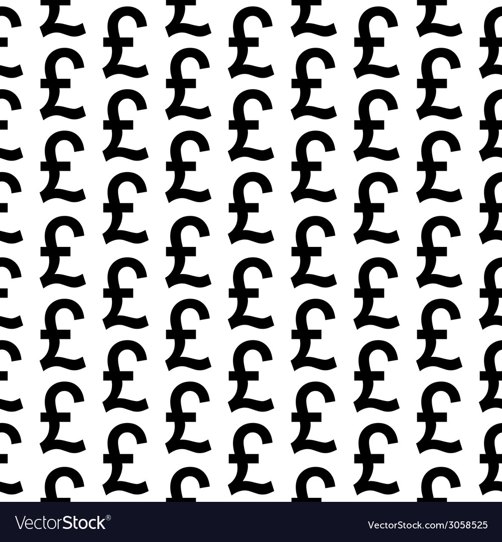 Pound symbol seamless pattern vector | Price: 1 Credit (USD $1)