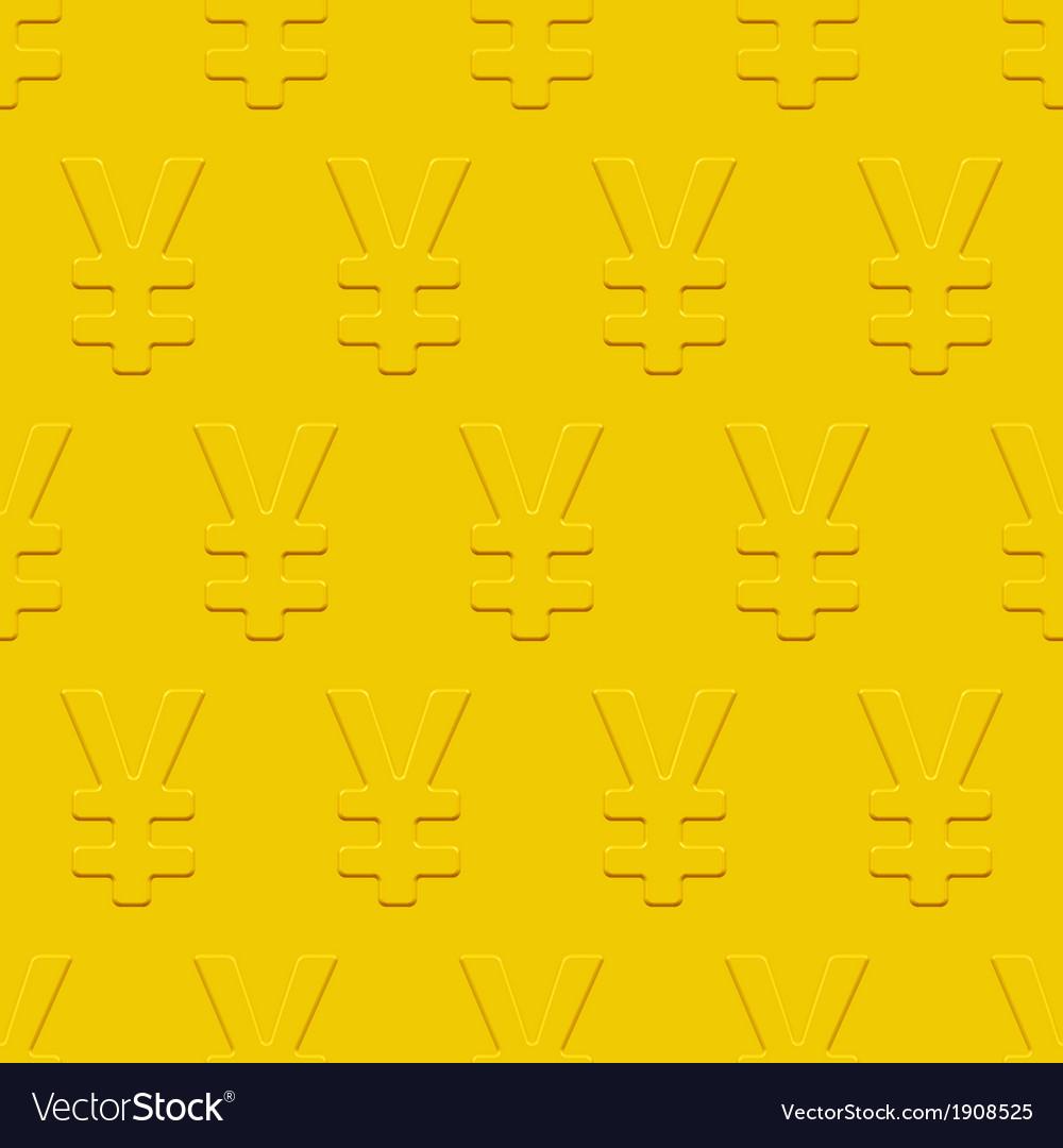 Yen symbol pattern vector | Price: 1 Credit (USD $1)