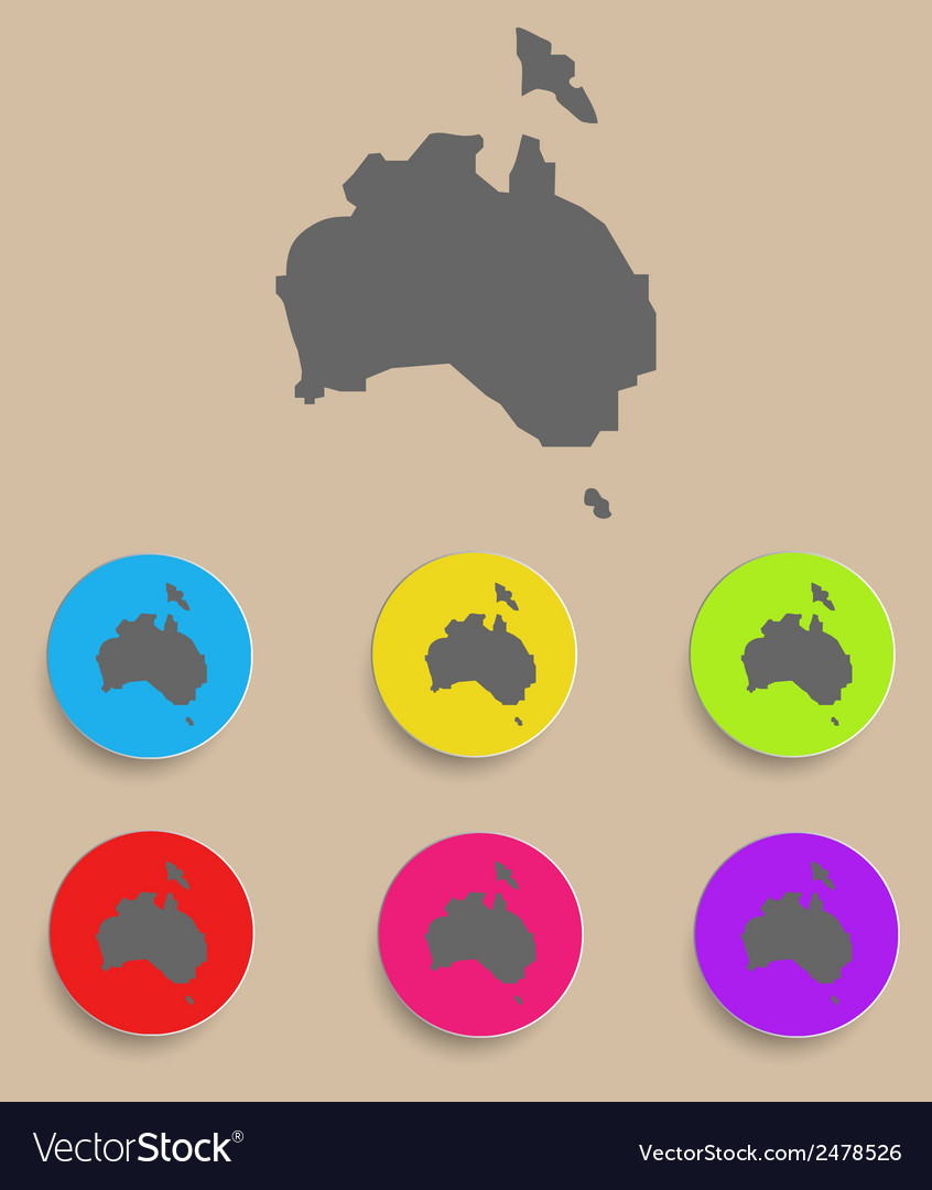 Australia map - icon isolated vector | Price: 1 Credit (USD $1)