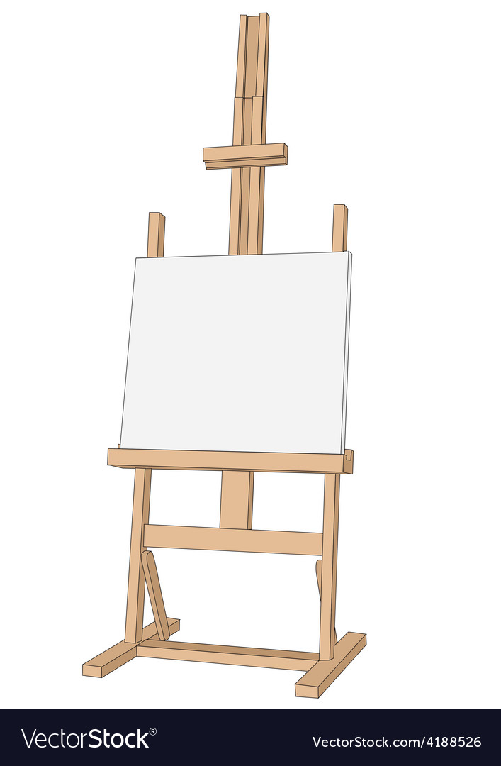Easel paint vector | Price: 1 Credit (USD $1)