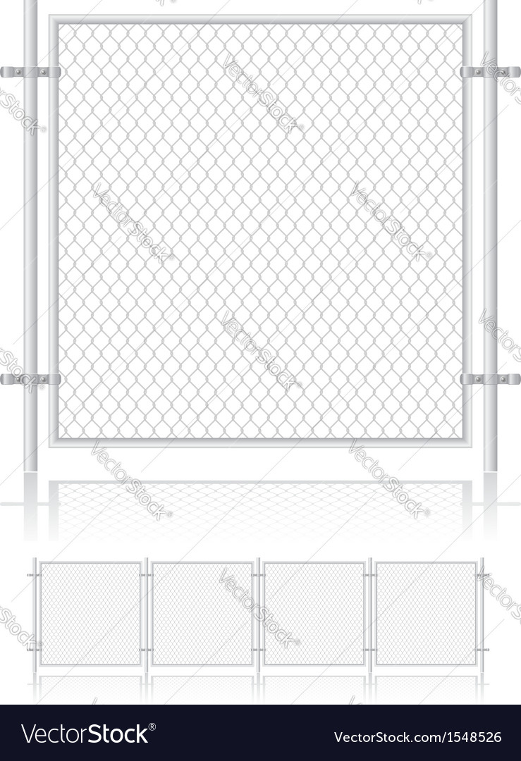 Fence made of wire mesh 01 vector | Price: 1 Credit (USD $1)