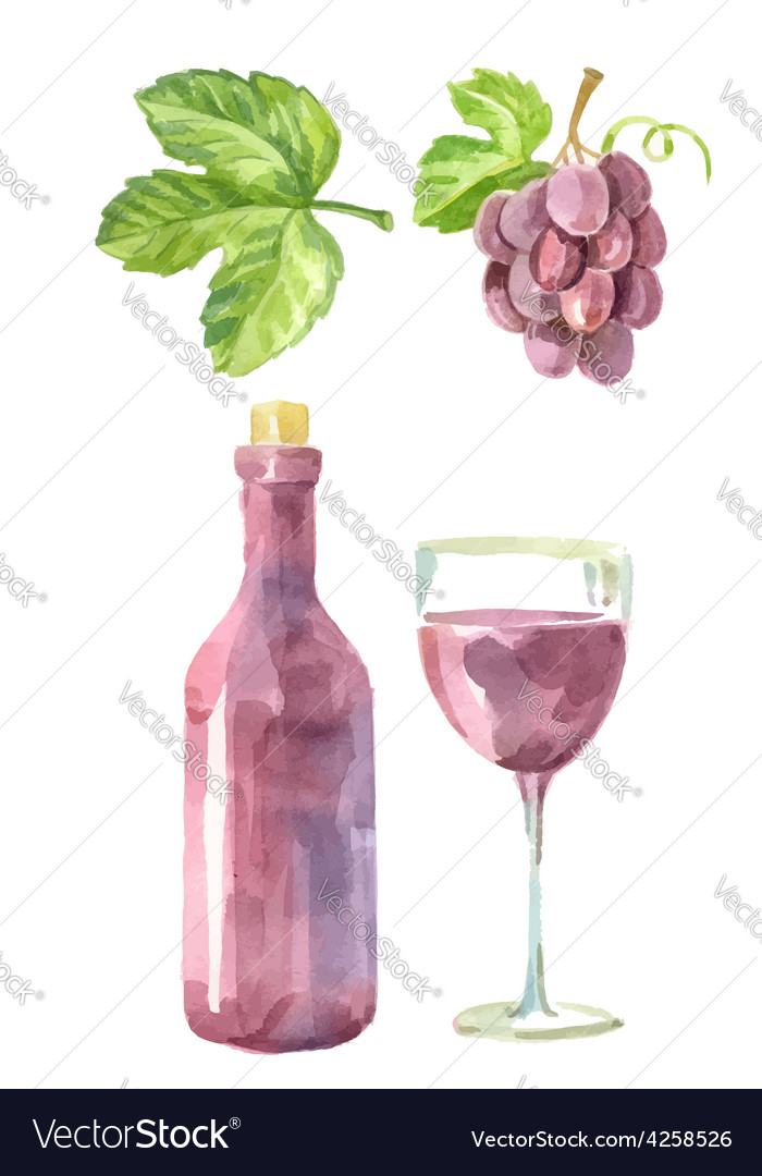 Picture of wine vector | Price: 1 Credit (USD $1)