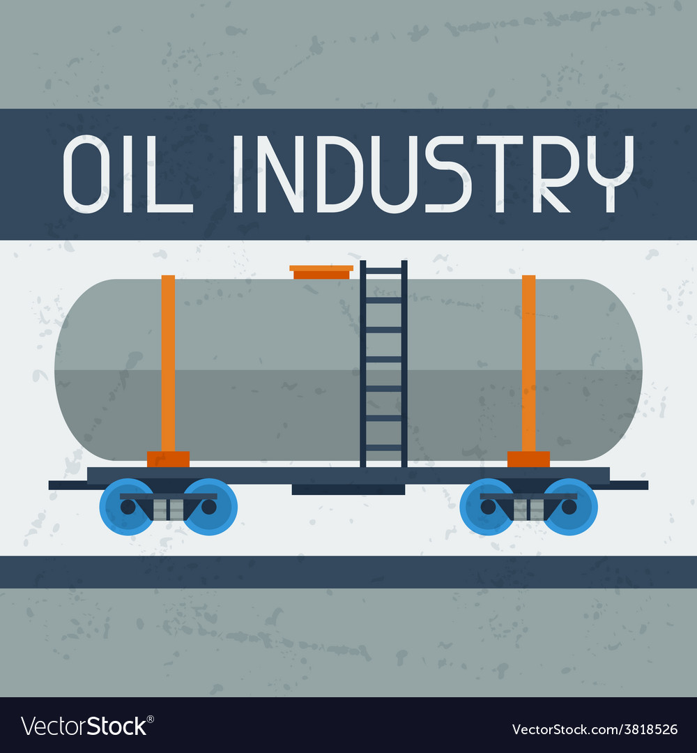 Railway tank with oil background vector | Price: 1 Credit (USD $1)