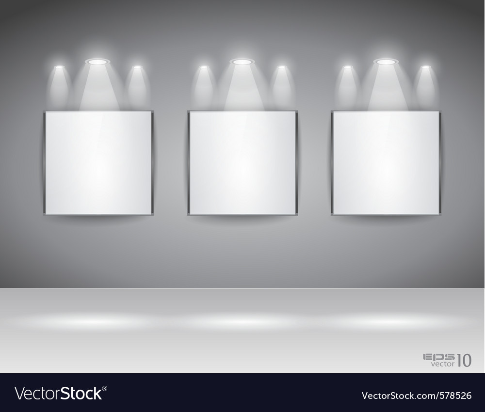Showroom panel vector | Price: 1 Credit (USD $1)