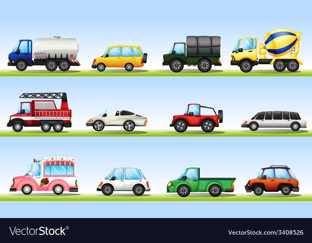 Vehicles vector | Price: 3 Credit (USD $3)