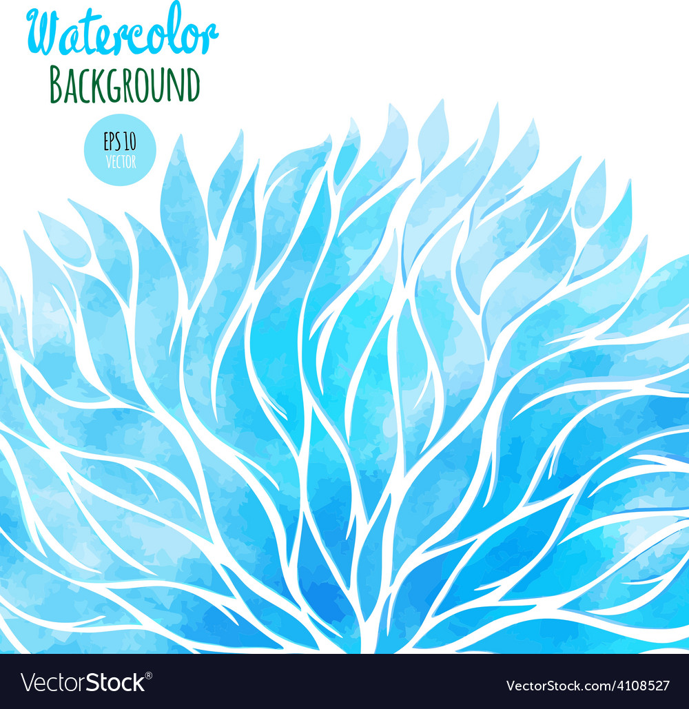 Abstract watercolor spring background vector | Price: 1 Credit (USD $1)