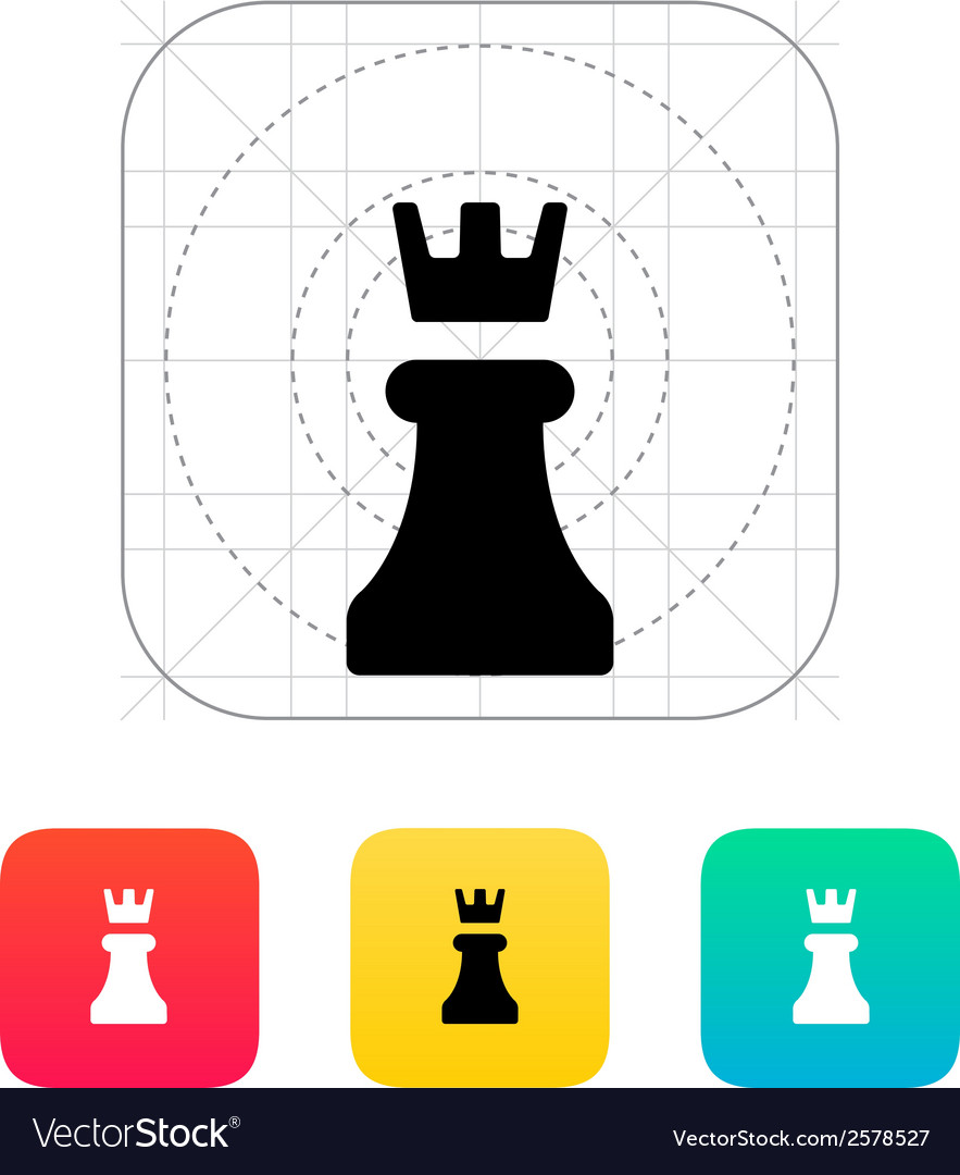Chess rook icon vector | Price: 1 Credit (USD $1)