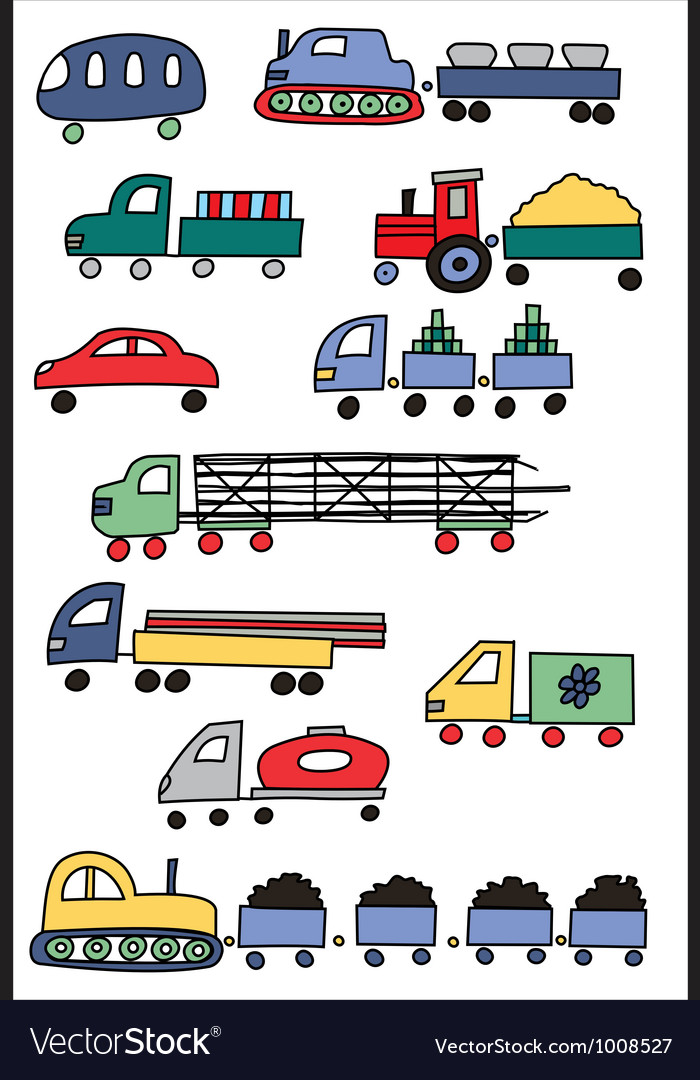 Coloured transport vector | Price: 1 Credit (USD $1)