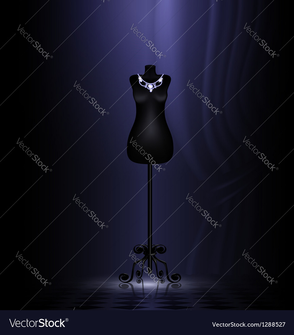 Craft dummy in a black room vector | Price: 1 Credit (USD $1)
