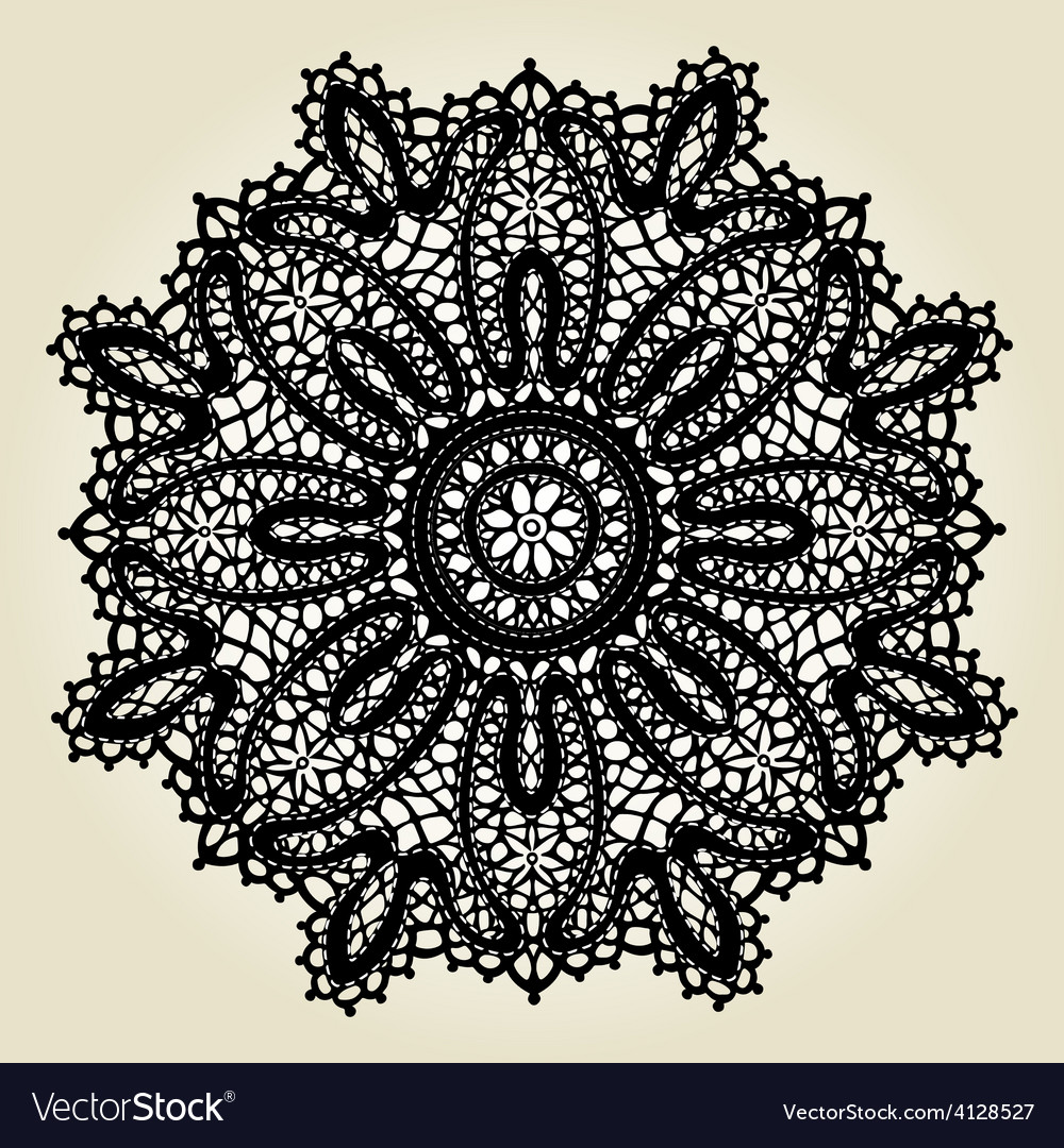 Delicate lace doily pattern vector | Price: 1 Credit (USD $1)