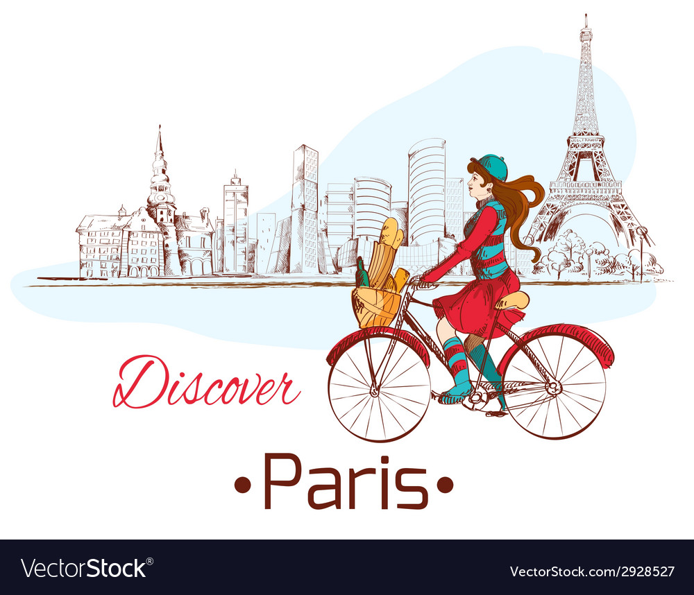 Discover paris poster vector | Price: 1 Credit (USD $1)
