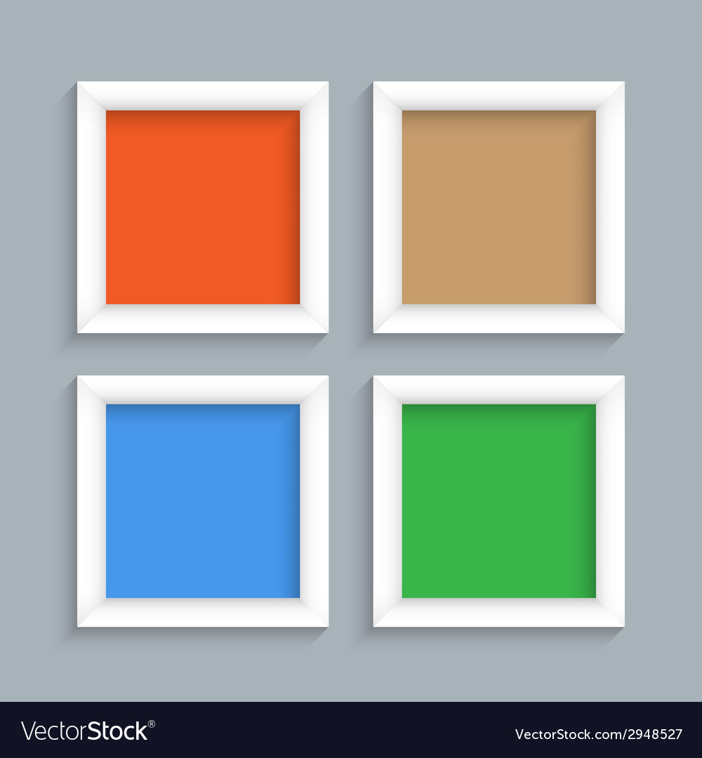 Four white modern frames vector | Price: 1 Credit (USD $1)