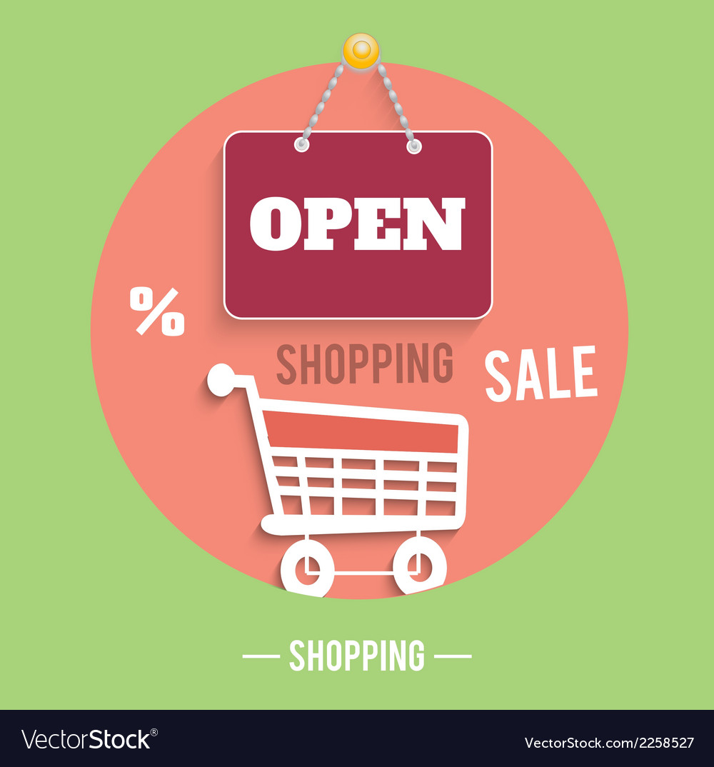 Icons of shopping concept vector | Price: 1 Credit (USD $1)