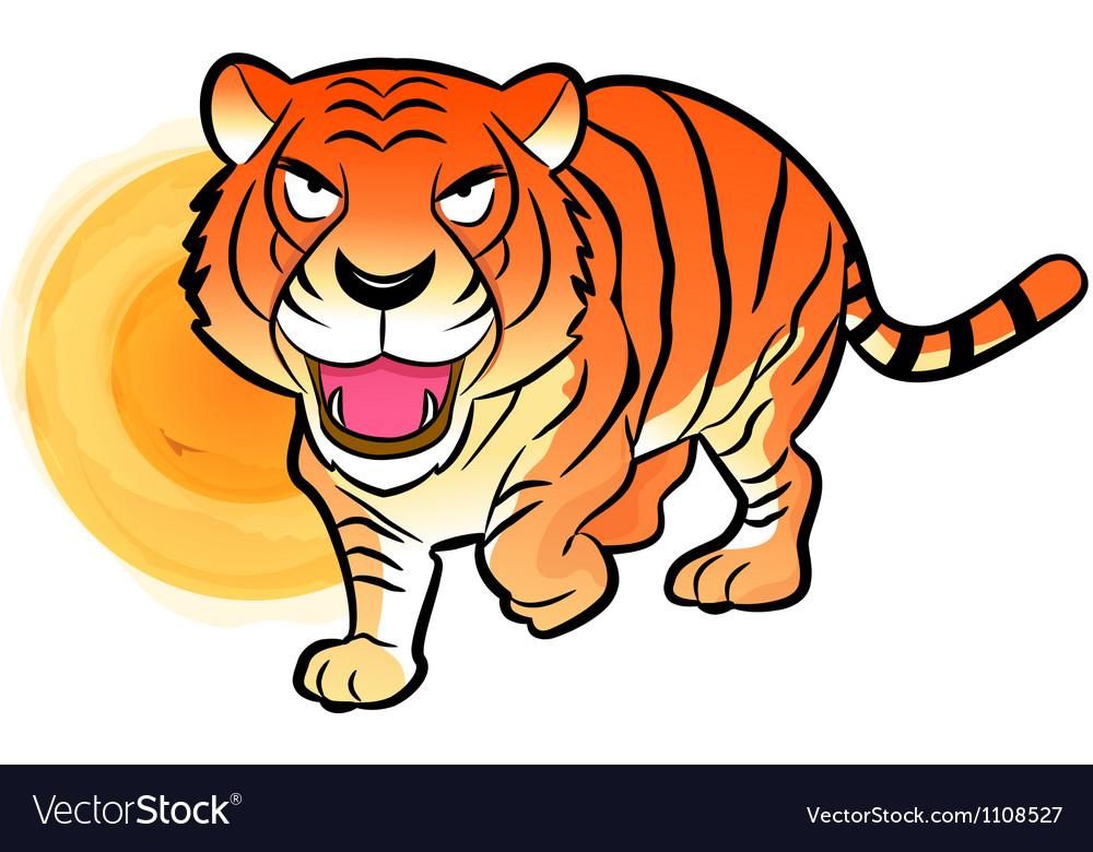 Korean traditional tiger mascot vector | Price: 1 Credit (USD $1)