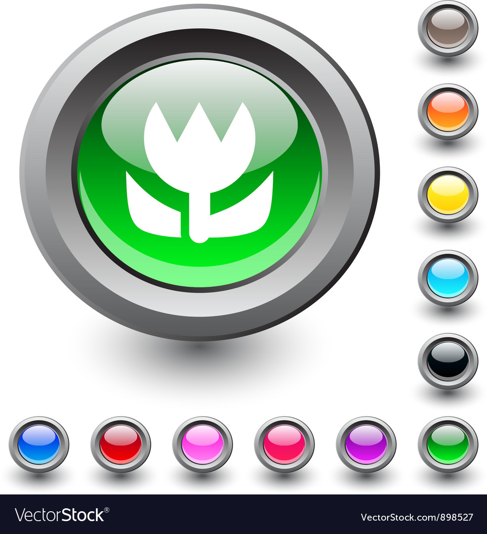 Macro round button vector | Price: 1 Credit (USD $1)