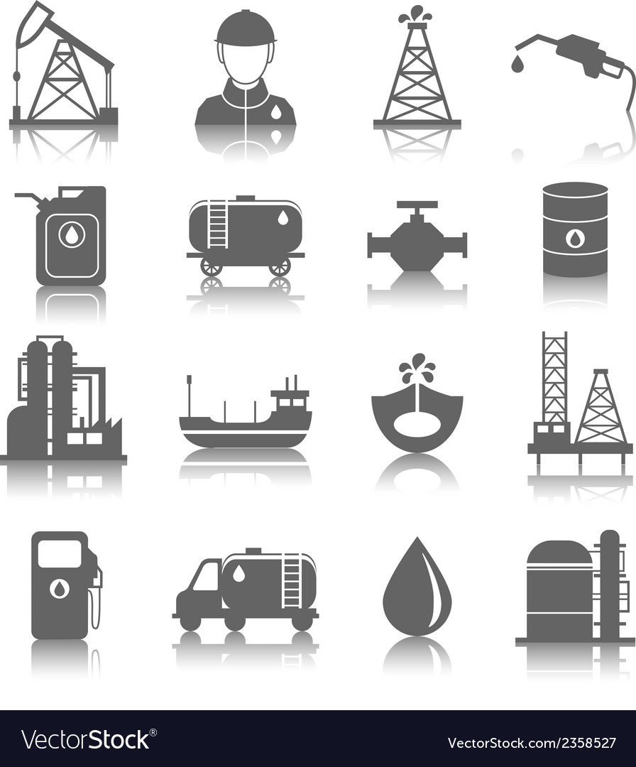 Oil industry icons vector | Price: 3 Credit (USD $3)