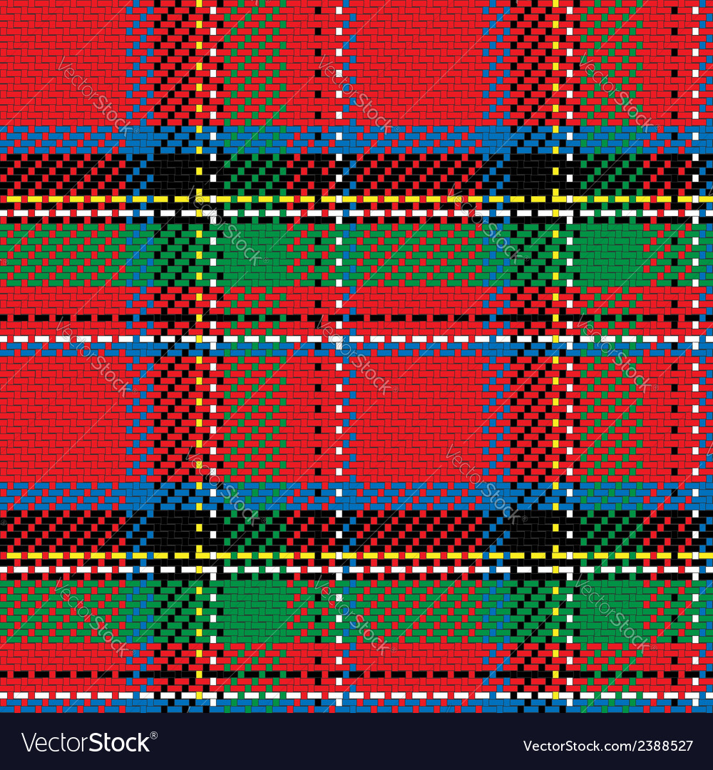 Seamless pattern scottish tartan royal stewart vector | Price: 1 Credit (USD $1)
