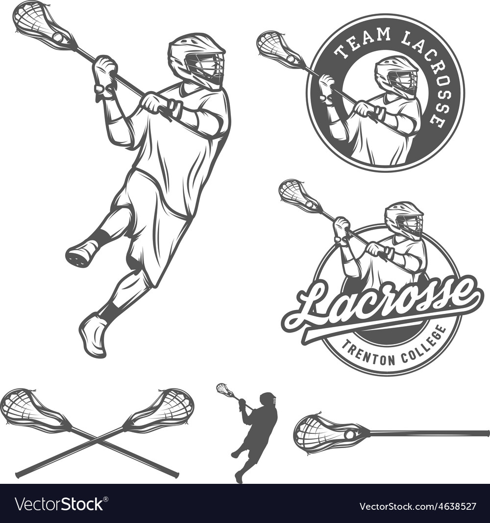 Set of lacrosse design elements vector | Price: 1 Credit (USD $1)