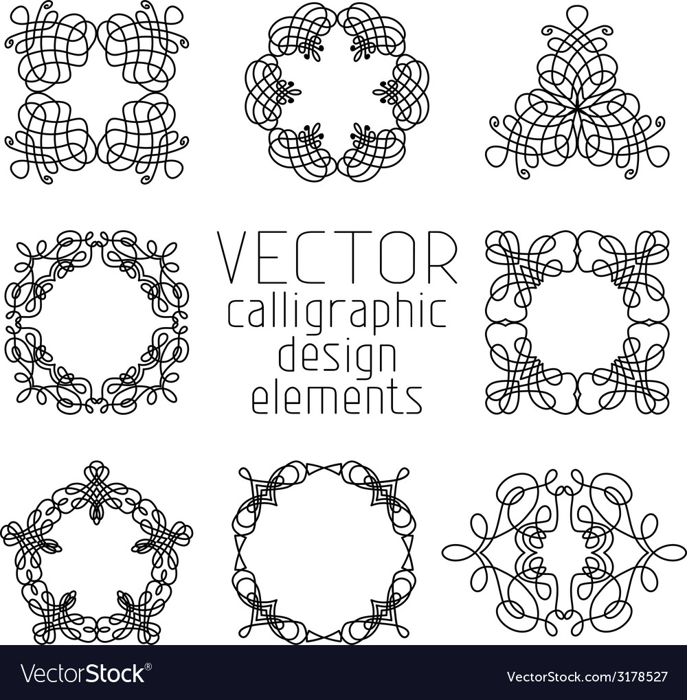 Set of various design elements and page vector | Price: 1 Credit (USD $1)