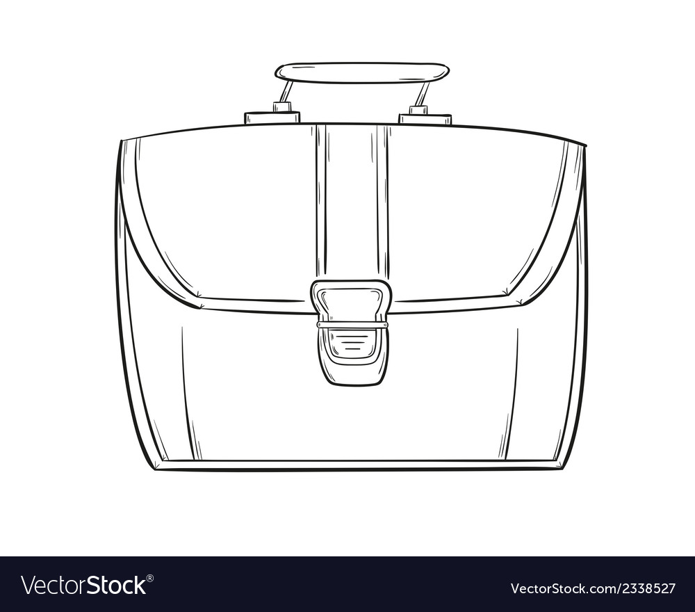 Sketch of the briefcase vector | Price: 1 Credit (USD $1)