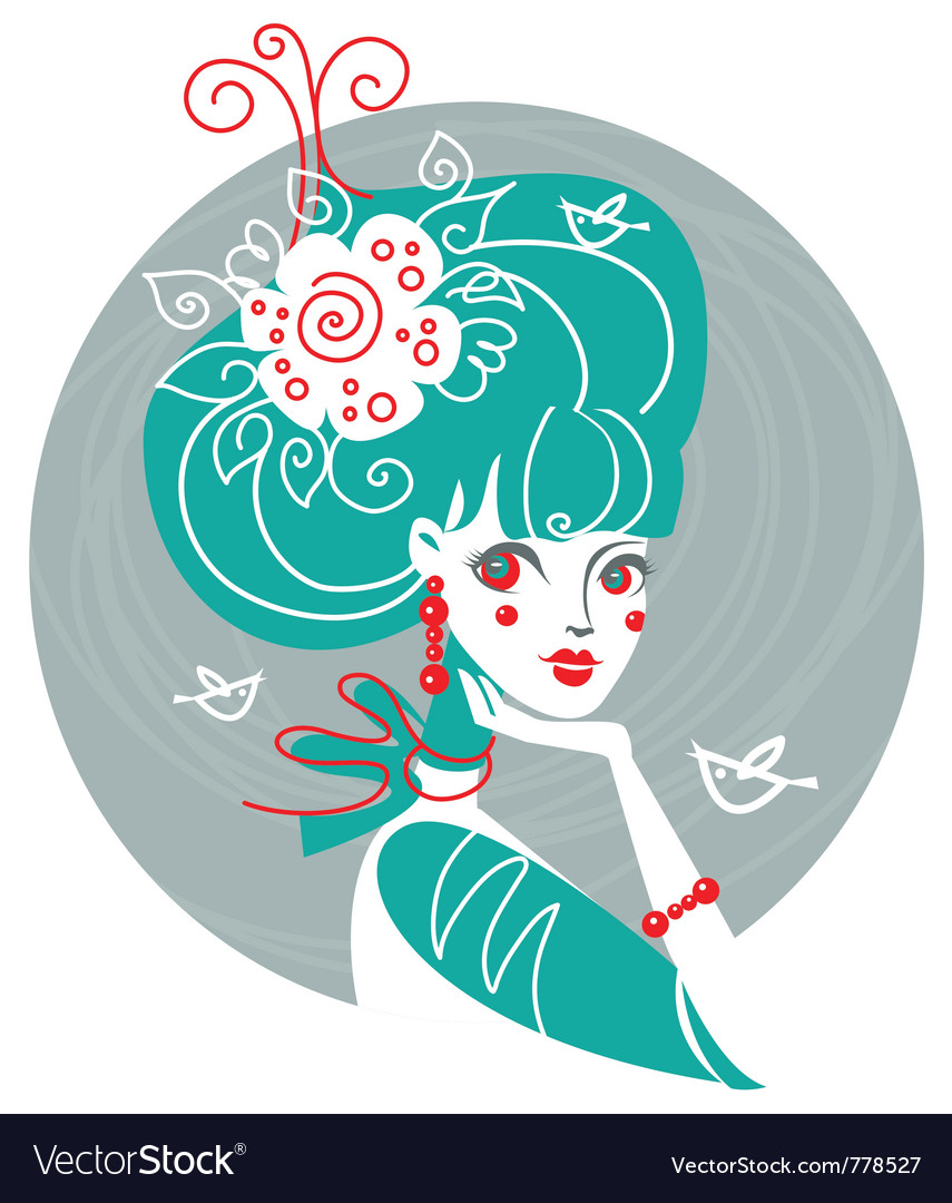 Spring of beauty girl vector   Price: 1 Credit (USD $1)