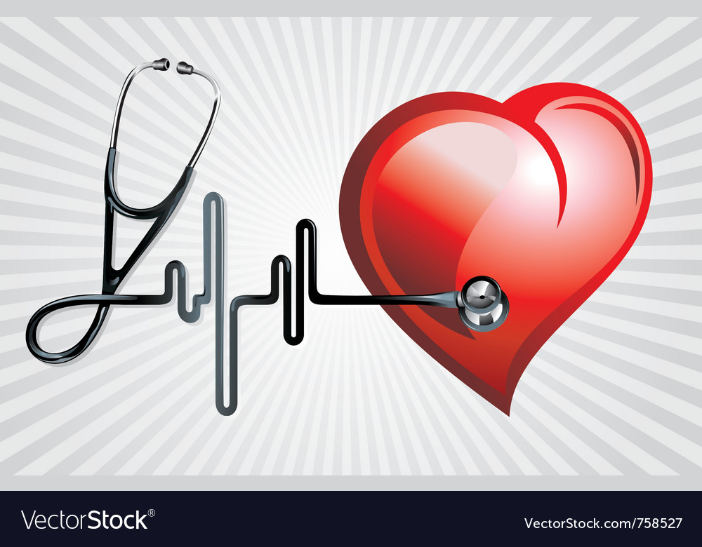 Stethoscope and heart vector | Price: 1 Credit (USD $1)