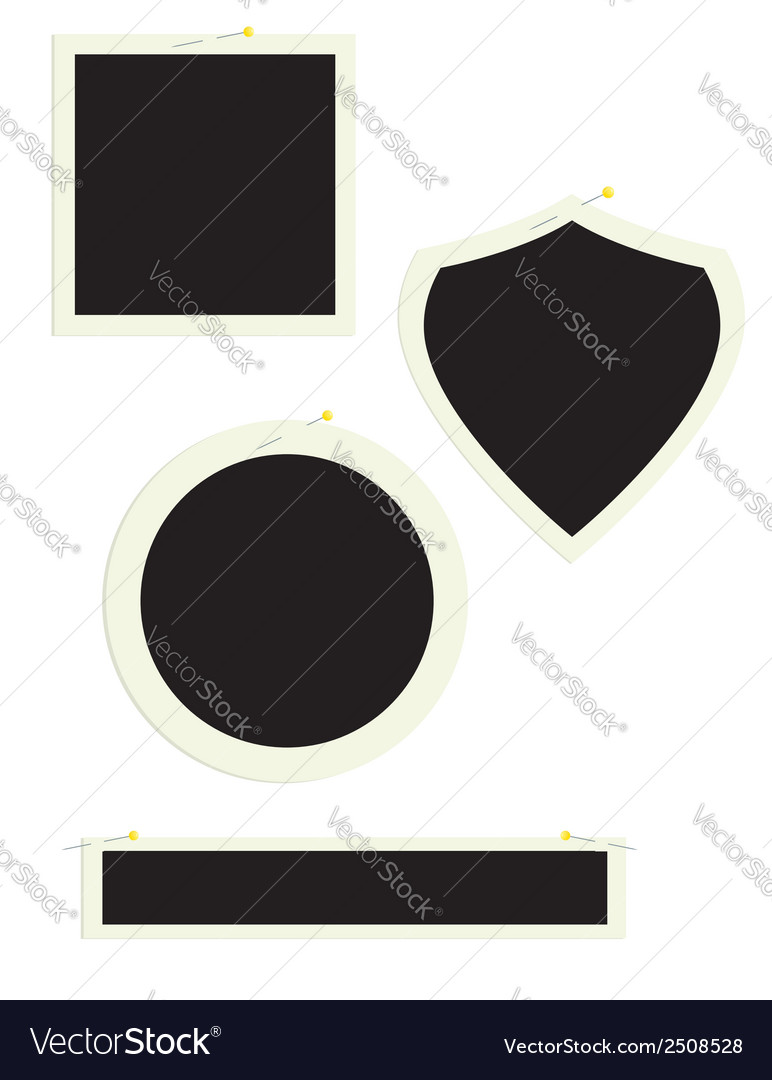 Assorted frames with pins vector | Price: 1 Credit (USD $1)