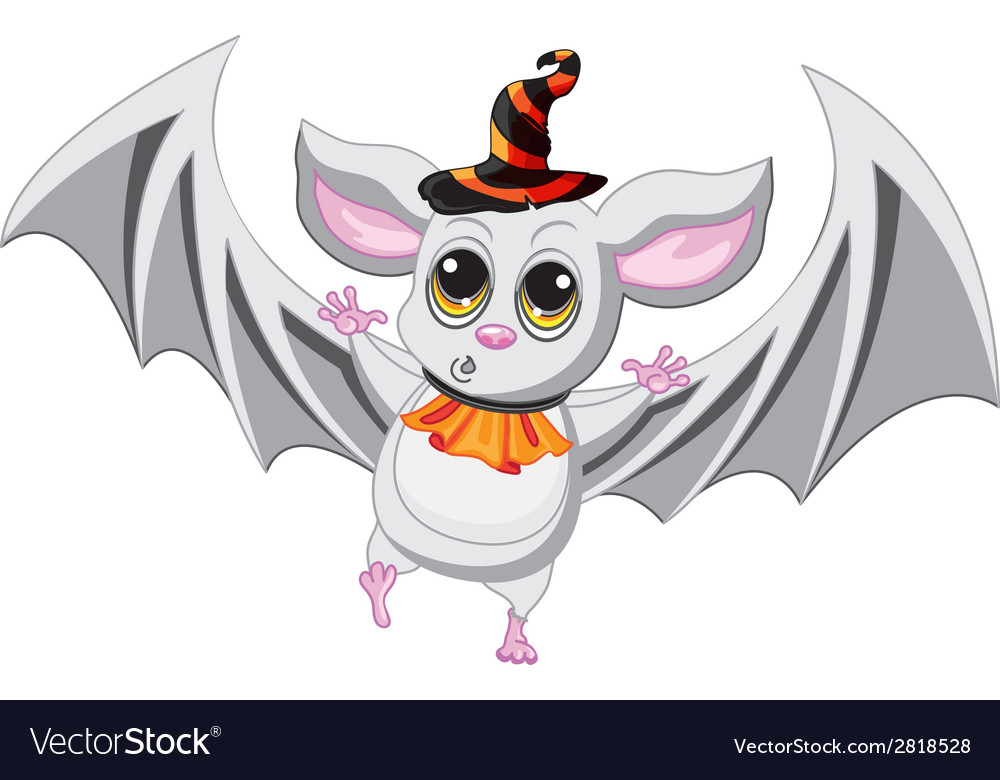 Bat halloween hat on a white background vector | Price: 1 Credit (USD $1)
