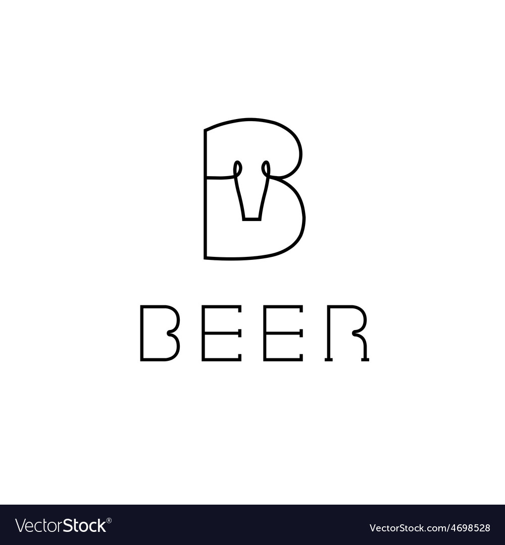 Beer monogram vector | Price: 1 Credit (USD $1)