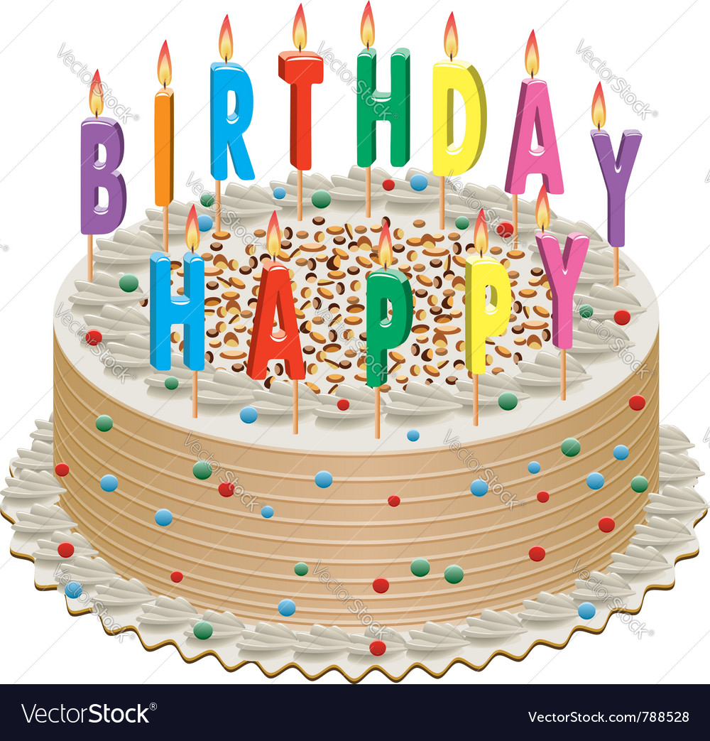 Birthday cake vector | Price: 1 Credit (USD $1)