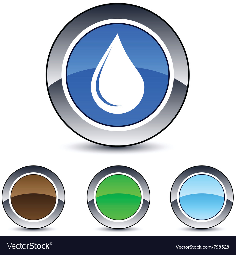 Drop round button vector | Price: 1 Credit (USD $1)