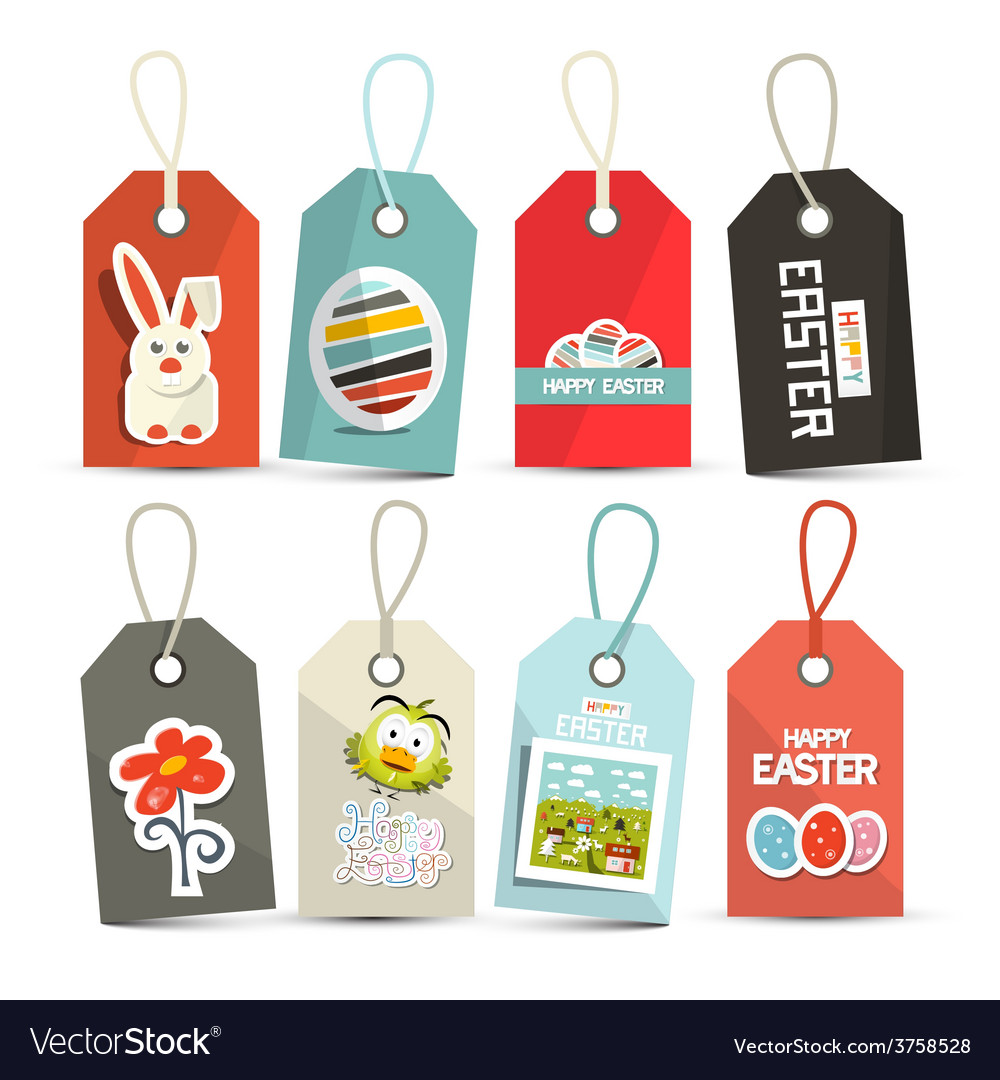 Easter isolated tags - labels with string set vector | Price: 1 Credit (USD $1)