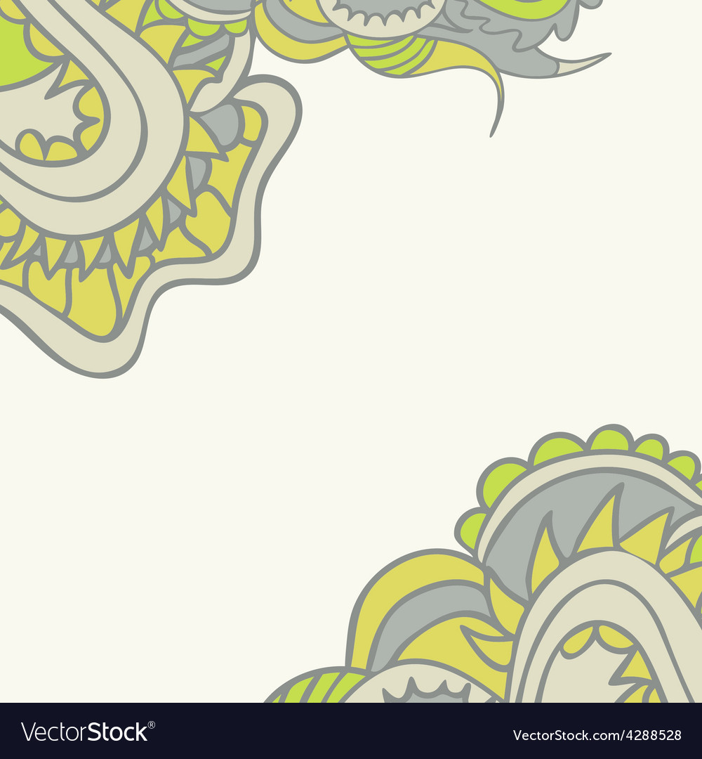 Floral ornamental template vector | Price: 1 Credit (USD $1)