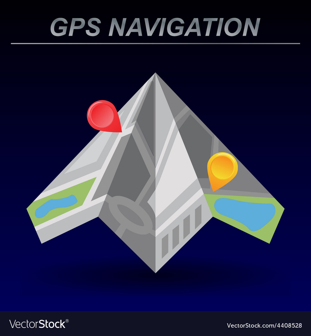 Global positioning system navigation vector | Price: 1 Credit (USD $1)