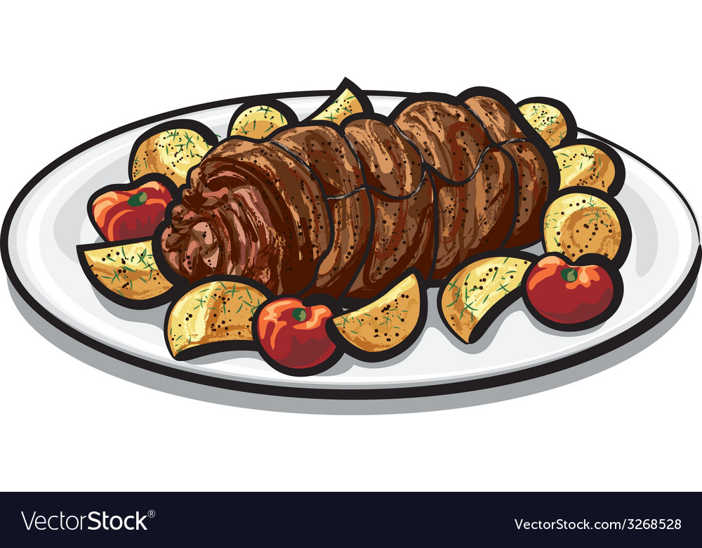 Meat roulade vector | Price: 3 Credit (USD $3)