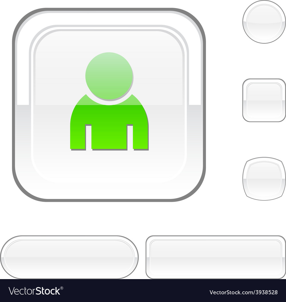 Person white button vector | Price: 1 Credit (USD $1)