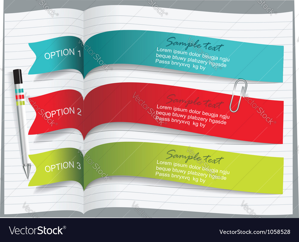 Ribbons and banners design vector | Price: 1 Credit (USD $1)