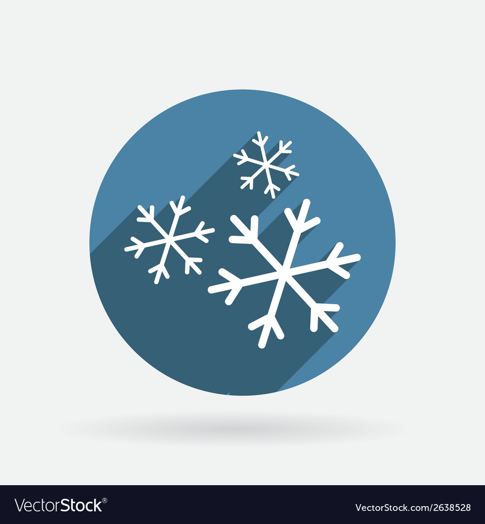 Snowflake circle blue icon with shadow vector   Price: 1 Credit (USD $1)