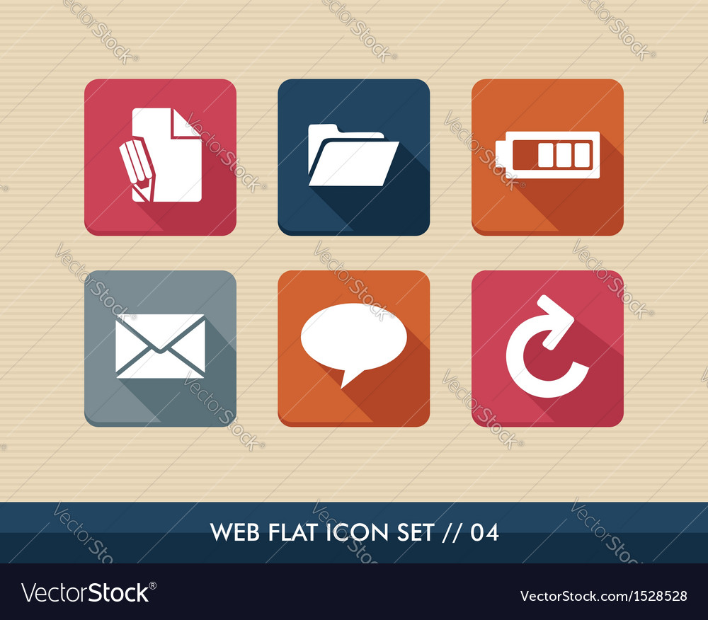 Web apps square flat icons set vector | Price: 1 Credit (USD $1)