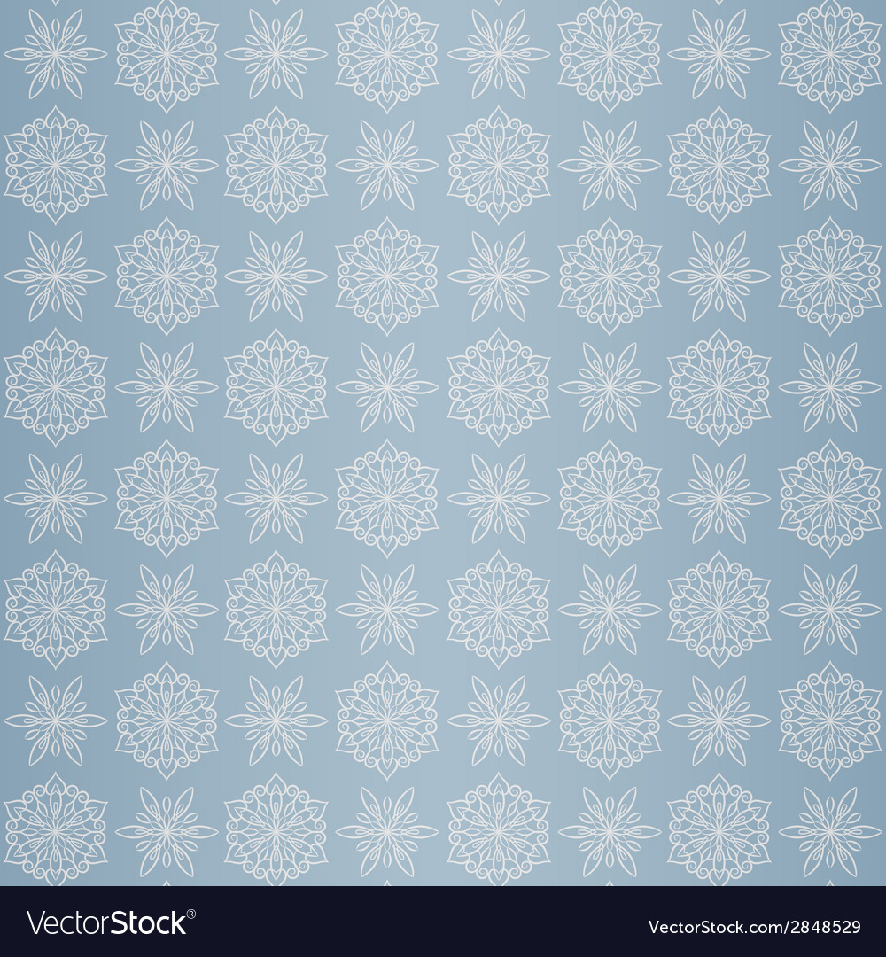 Christmas seamless pattern with snowflake blue vector | Price: 1 Credit (USD $1)