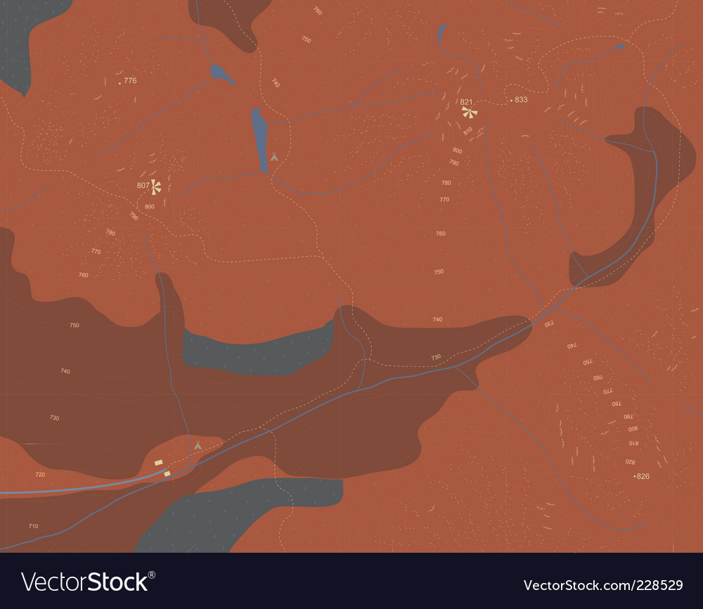 Contour map vector | Price: 1 Credit (USD $1)