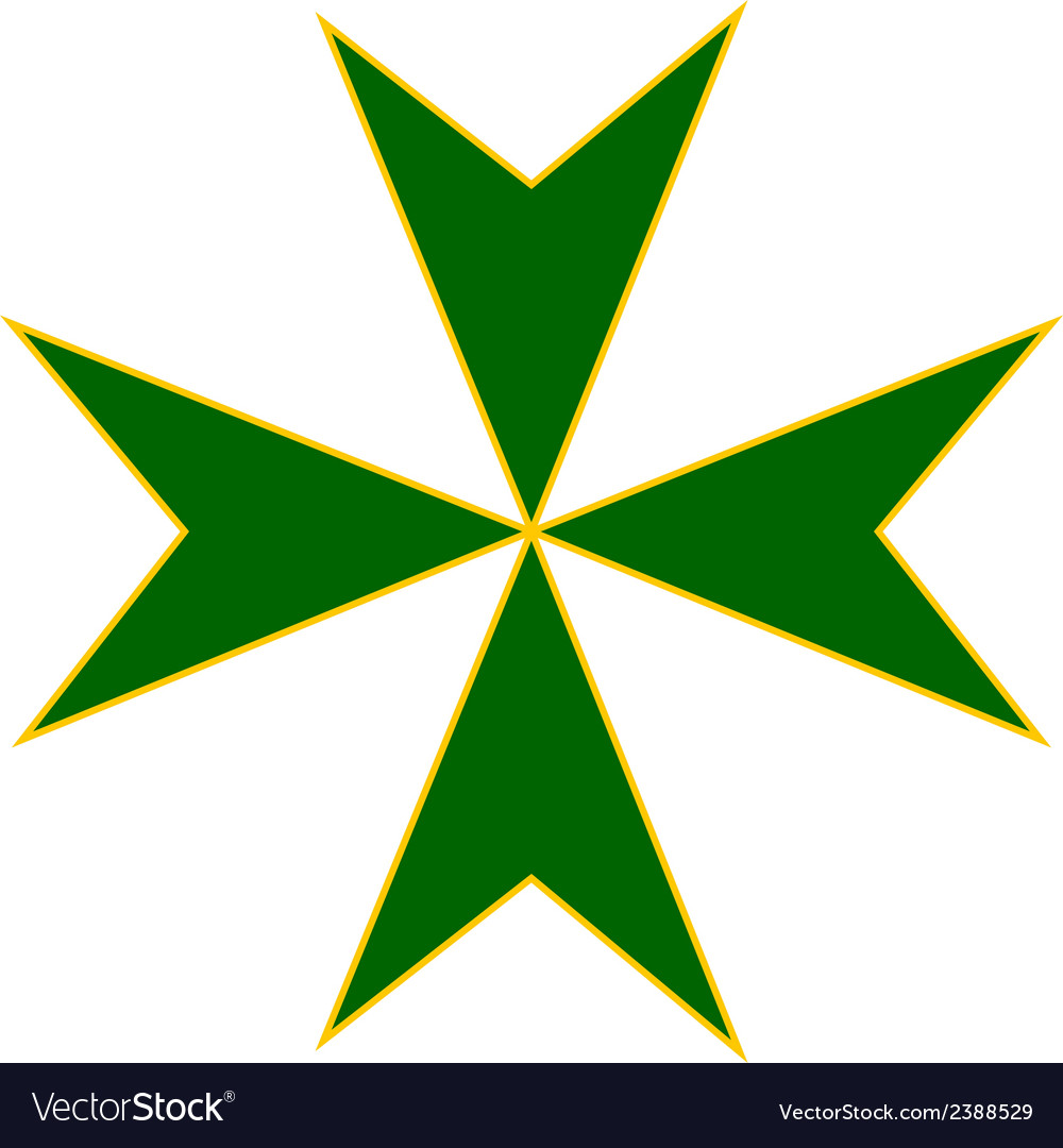 Cross of saint lazarus vector | Price: 1 Credit (USD $1)