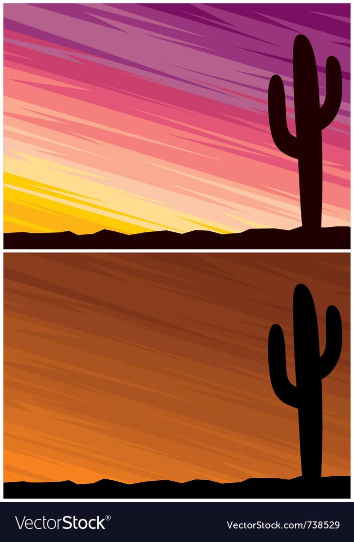 Desert cactus vector | Price: 1 Credit (USD $1)