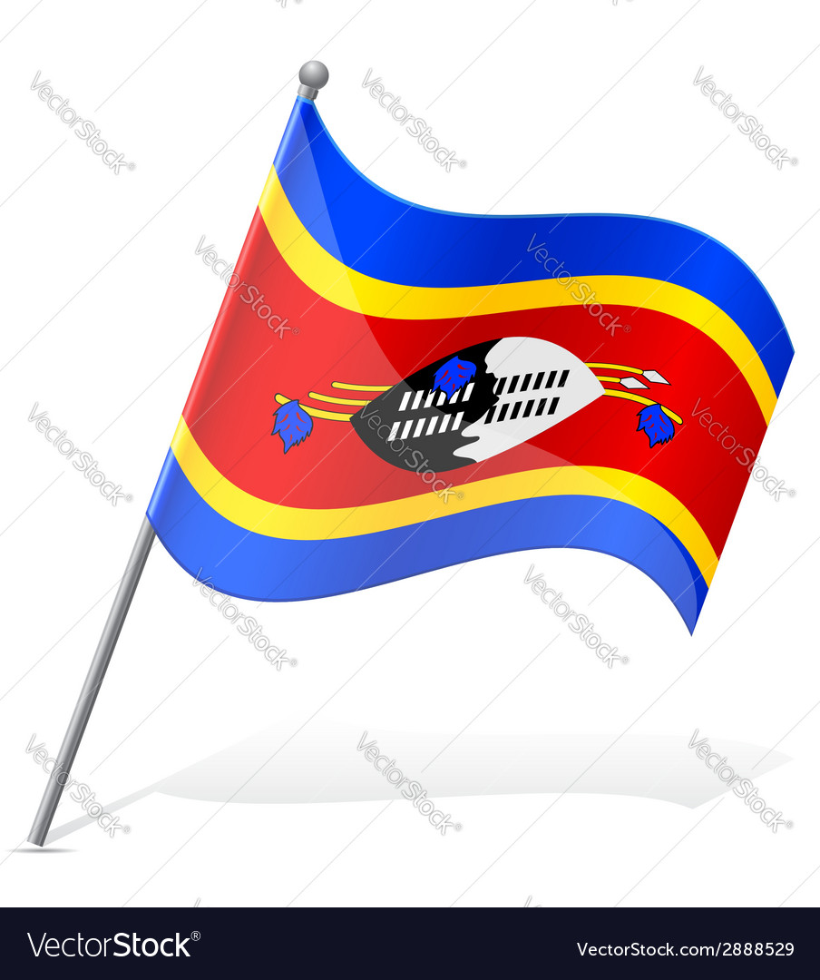 Flag of swaziland vector | Price: 1 Credit (USD $1)