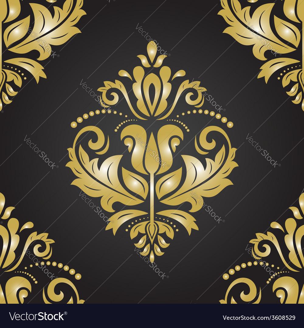 Golden seamless pattern orient background vector   Price: 1 Credit (USD $1)