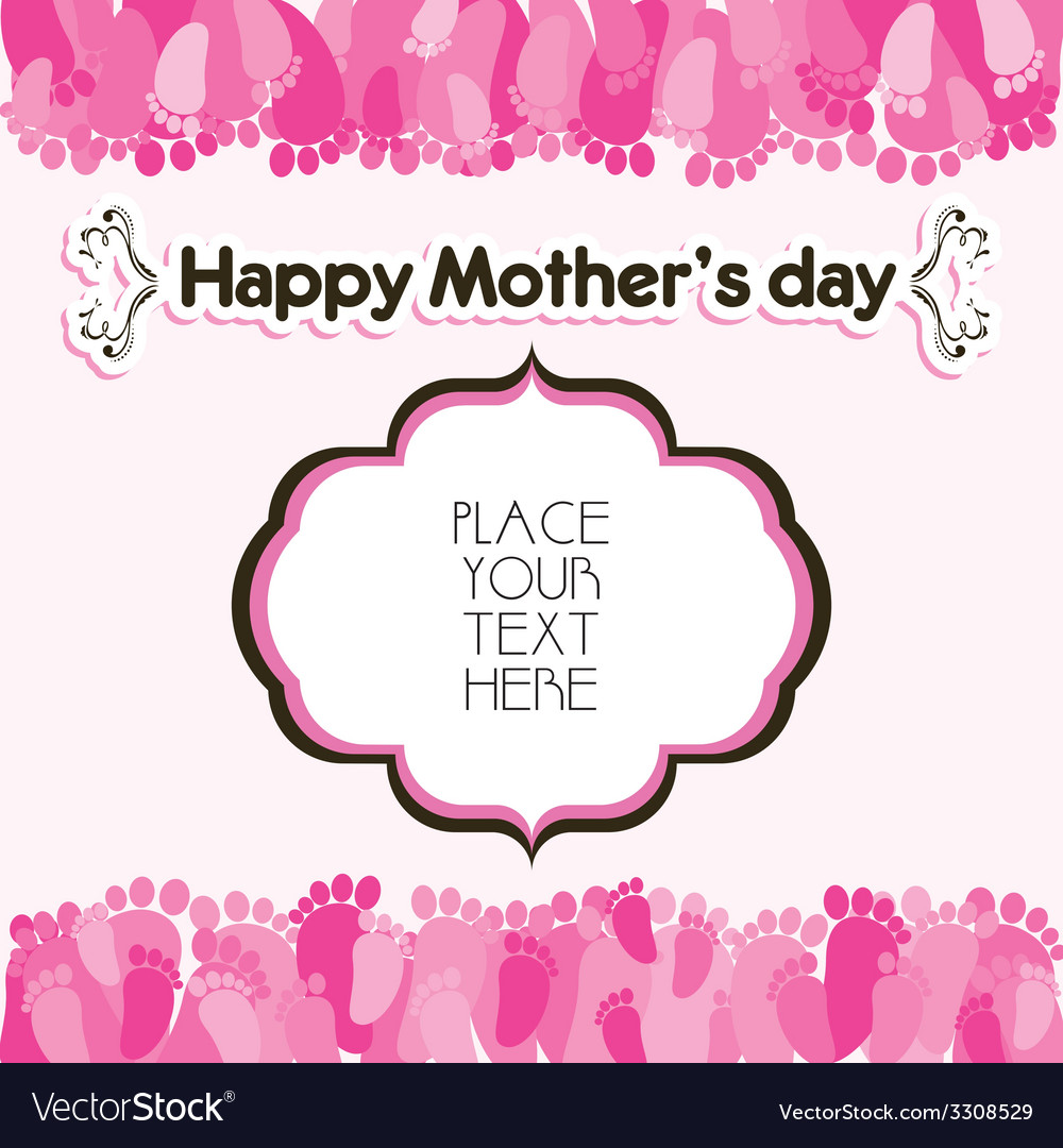 Happy mothers day greeting background vector   Price: 1 Credit (USD $1)