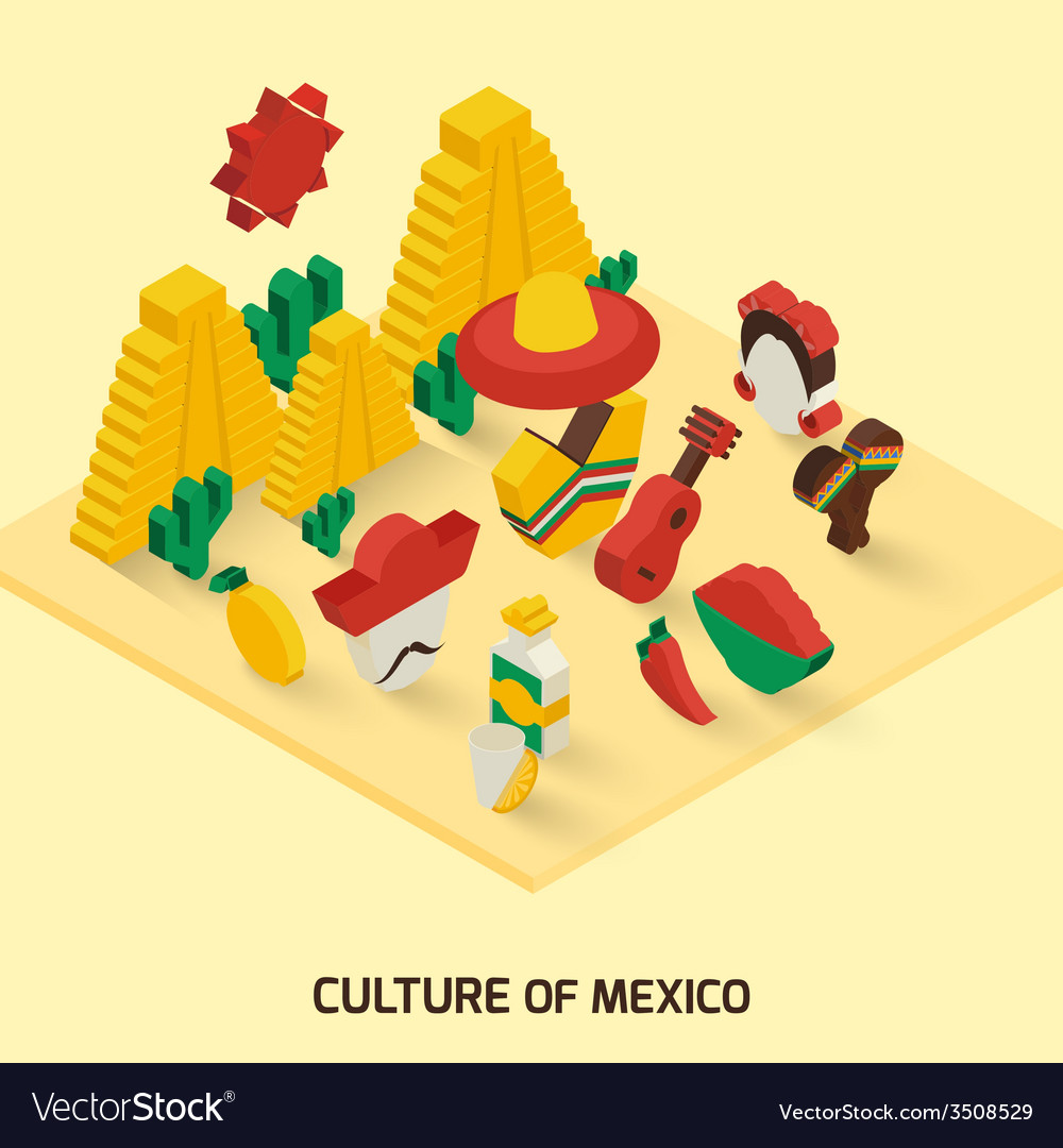 Mexican icon isometric vector | Price: 1 Credit (USD $1)